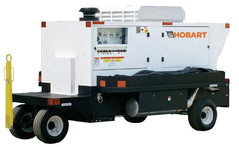 Hobart 140CU20 - 180CU20 140 - 180kVA 115/200 VAC 400Hz Tier 3 Diesel Ground Power Unit
