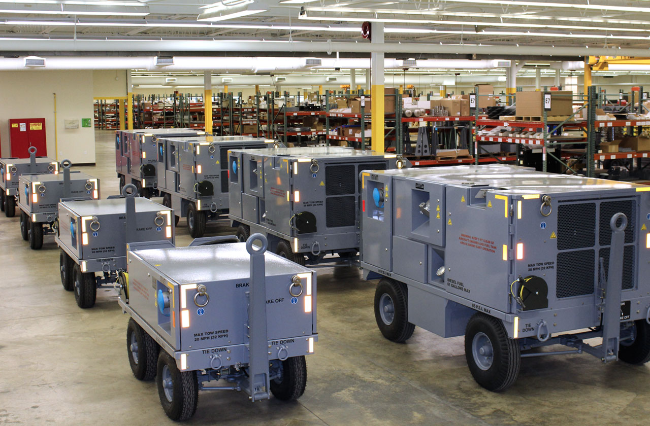 F-35 Diesel and Electric Ground Power Unit-Production Line-Lockheed Martin JSF Generator to power up F-35 JSF