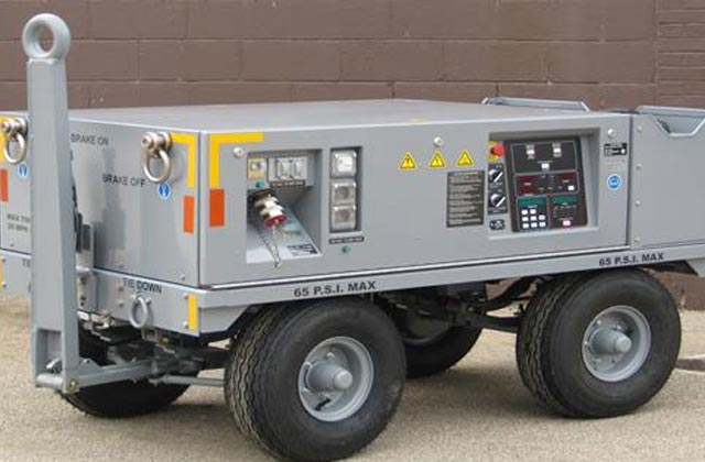 Ground Power Unit supplying-270VDC-28.5VDC-Solid State-Shipboard Qualified-Manufactured for Lockheed Martin Company for use on F35-JSF
