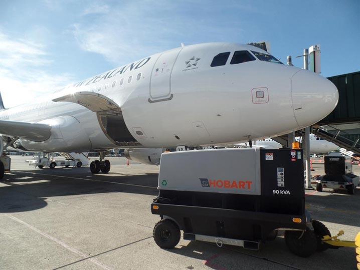 Hobart Ground Power Unit 4400-Diesel GPU on Aircraft-90CU24C
