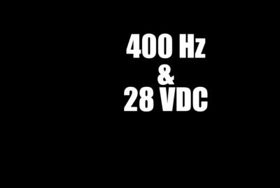 Rental GPU 400Hz & 28 VDC